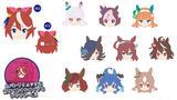 【B】盲盒 赛马娘 第2季 迷你玩偶徽章 全10种 (1盒10个) 551262