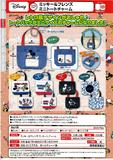 【B】300日元扭蛋 米奇和朋友们 迷你帆布包挂件 全5种 (1袋40个)  879654