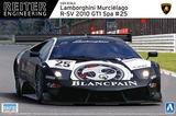【A】1/24拼装模型 超跑系列 No.14 兰博基尼 R-SV 2010 GT1 Spa #25