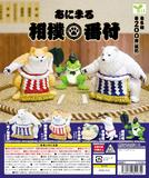 200日元扭蛋 小手办 动物相扑员 全5种 (1袋50个) 825370