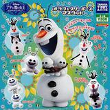 【A】300日元扭蛋 冰雪奇缘 艾莎的惊喜 雪宝&斯诺基斯 挂件 全5种(1袋40个)828645