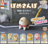 【B】200日元扭蛋 小手办 散步中的博美 全8种 (1袋50个) 712433